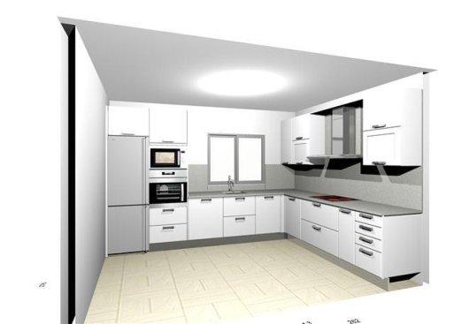 Cocina de madera a medida c ceres carpinter a c ceres - Cocinas grises con encimera blanca ...