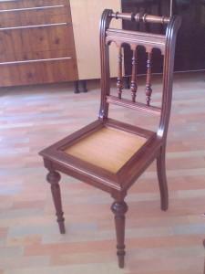 Reproducción silla antigua a medida